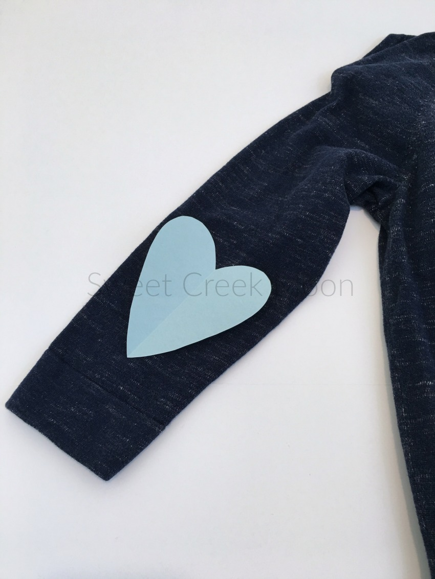 Heart elbow patches simple application sweet creek moon for Elbow patch template